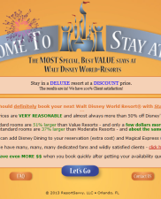 Stay at WDW Resort Booking